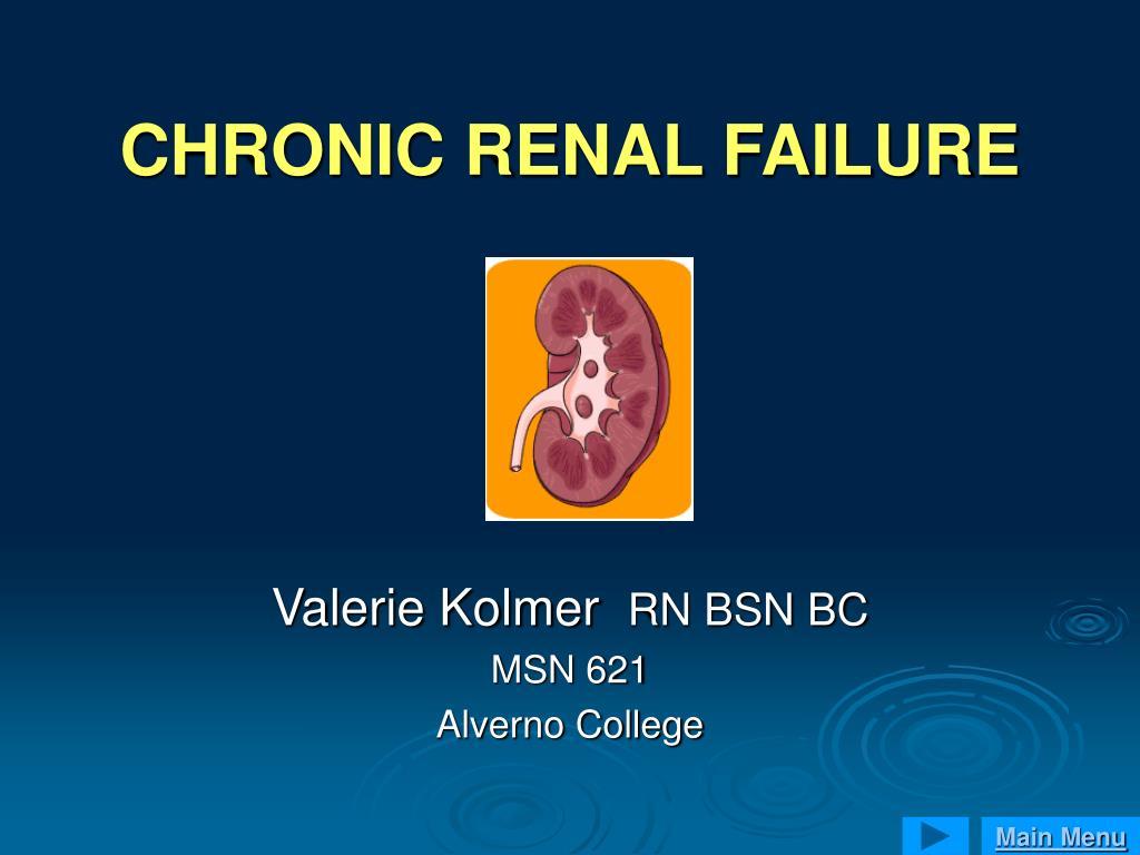 chronic renal failure l.