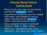 chronic renal failure tutorial guide
