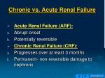 chronic vs acute renal failure