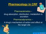 pharmacology in crf
