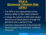 what is glomerular filtration rate gfr