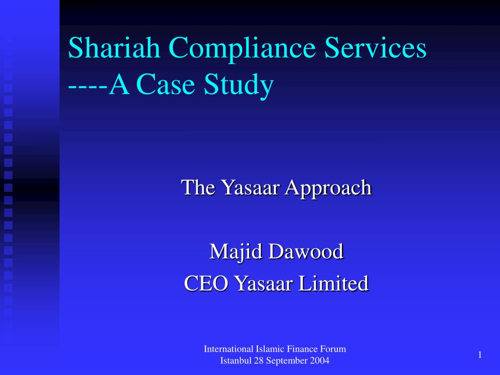 shariah compliance services a case study l.