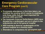 emergency cardiovascular care program con t