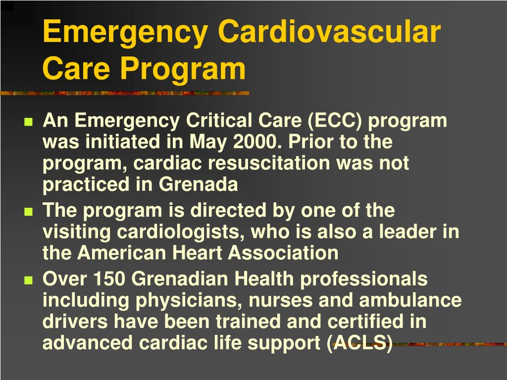 Emergency Cardiovascular Care Program