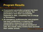 program results18