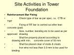 site activities in tower foundation58