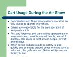 cart usage during the air show