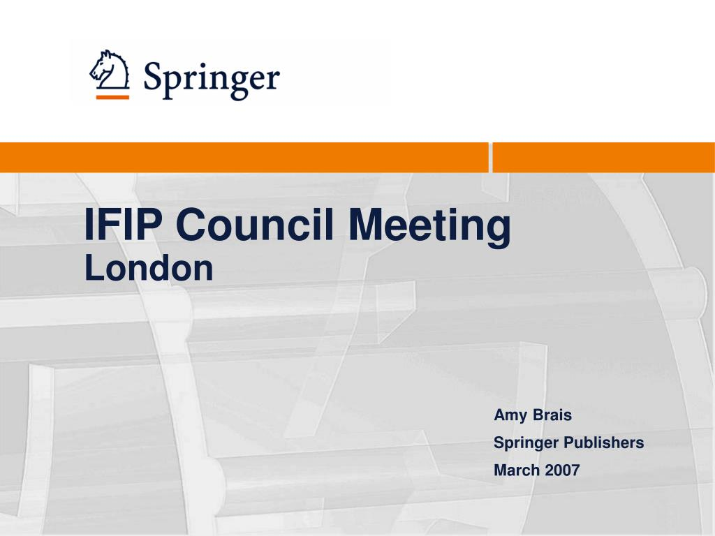 ifip council meeting london l.