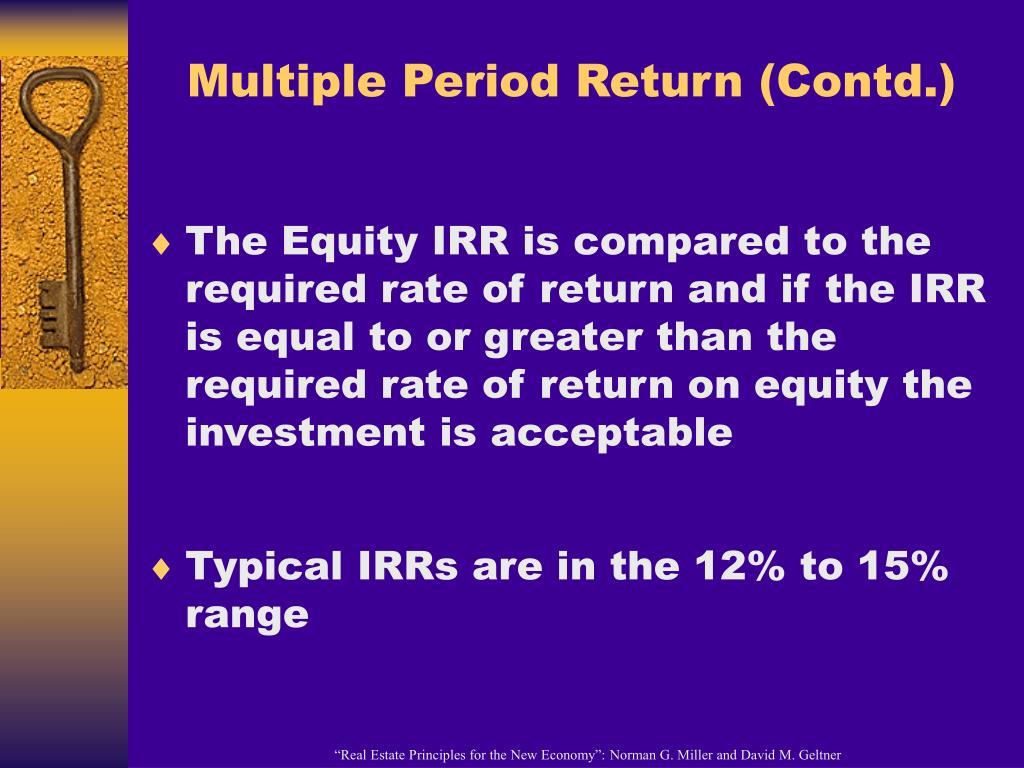 Multiple Period Return (Contd.)