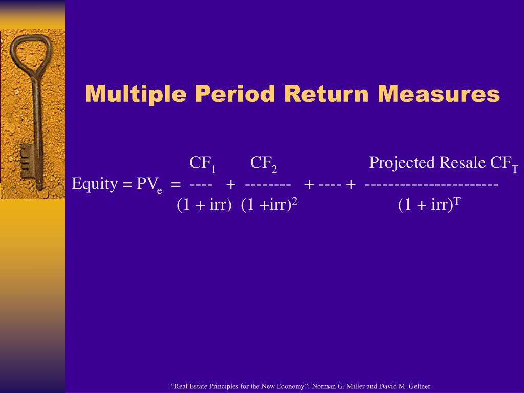 Multiple Period Return Measures