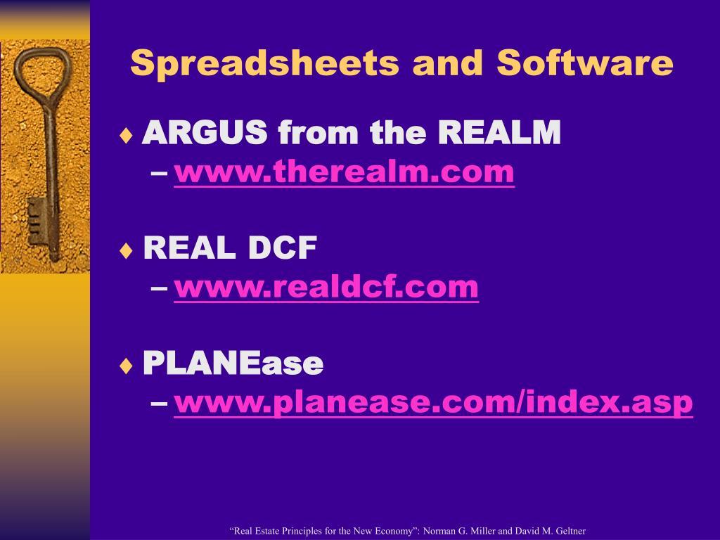 Spreadsheets and Software