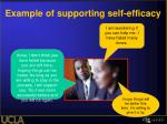 example of supporting self efficacy