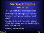principle 1 express empathy