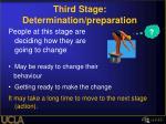 third stage determination preparation