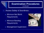 examination procedures continued27