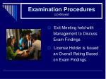 examination procedures continued28