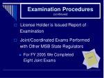 examination procedures continued29