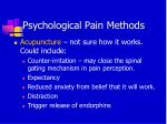 psychological pain methods
