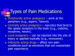 types of pain medications