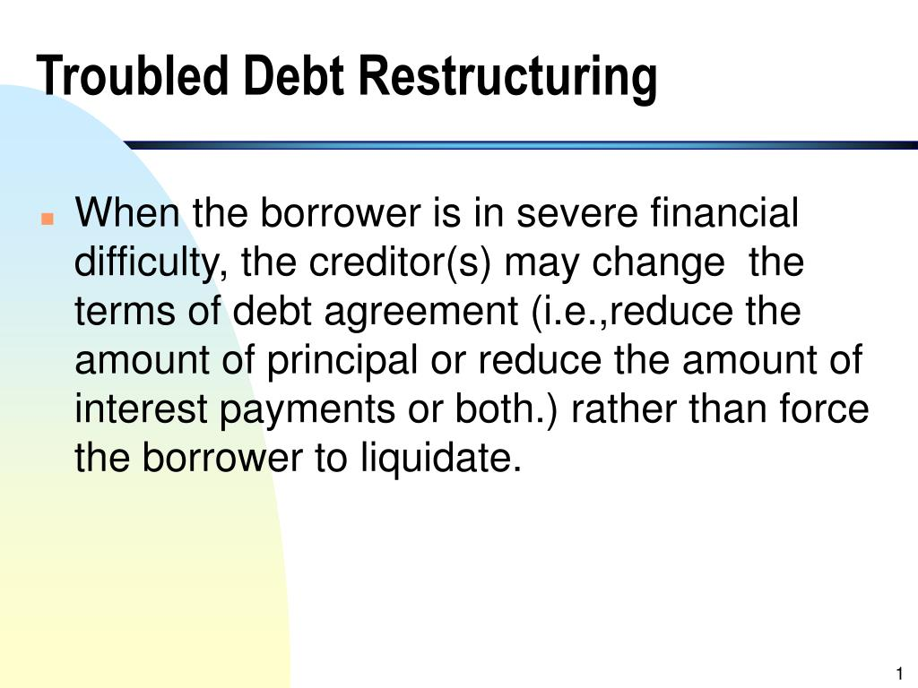 troubled debt restructuring l.