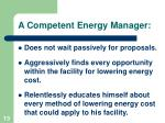 a competent energy manager