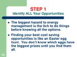 step 1 identify all your opportunities10
