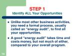 step 1 identify all your opportunities14