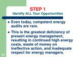 step 1 identify all your opportunities15