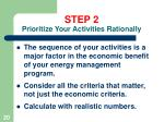 step 2 prioritize your activities rationally