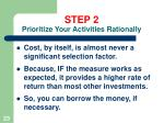 step 2 prioritize your activities rationally23