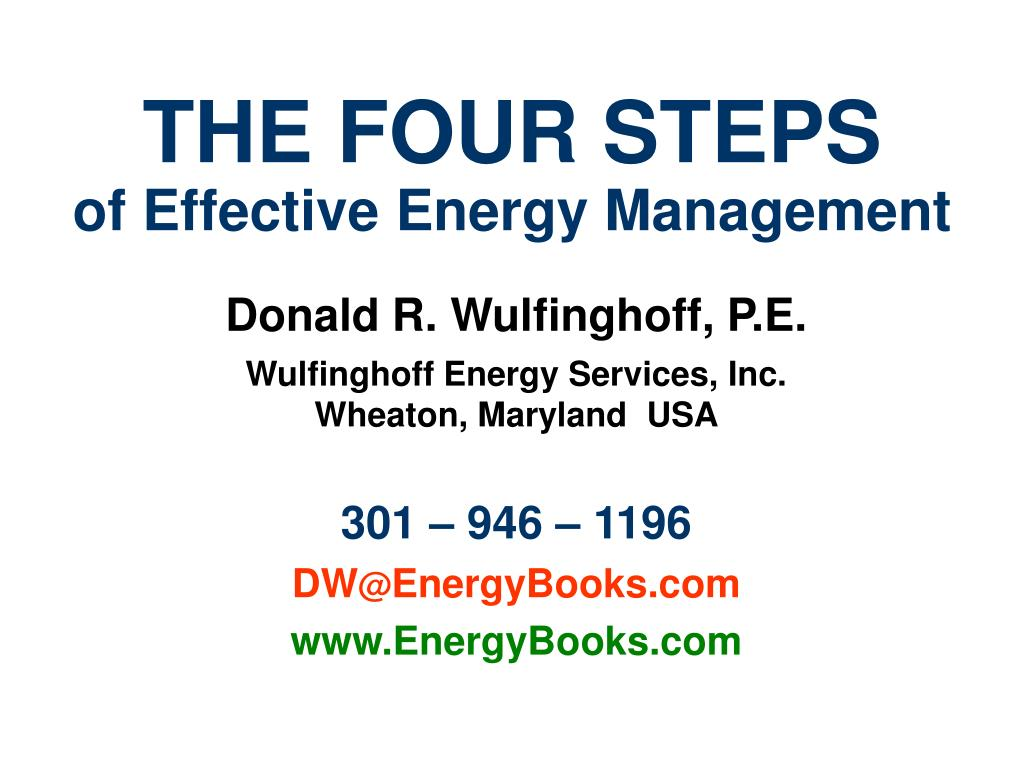 the four steps of effective energy management l.