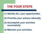 the four steps