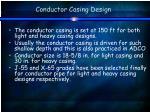 conductor casing design