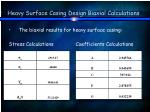 heavy surface casing design biaxial calculations38