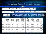 light surface casing tension calculations