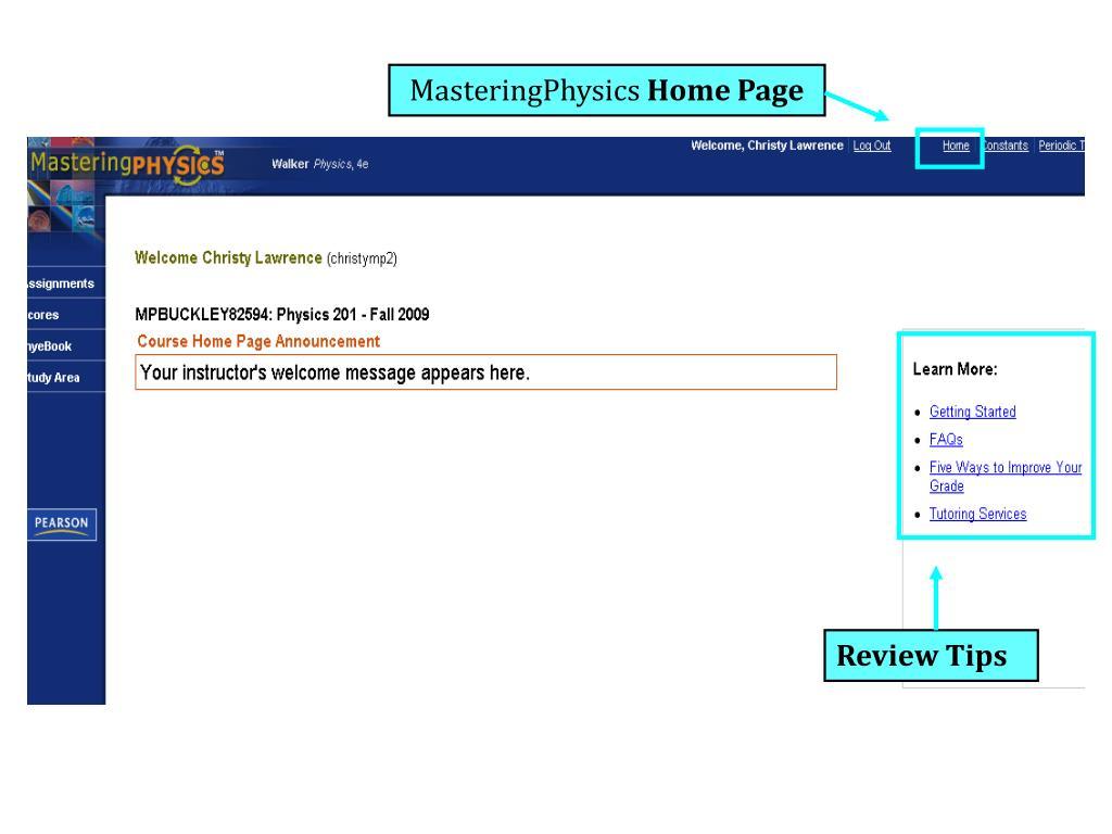 MasteringPhysics