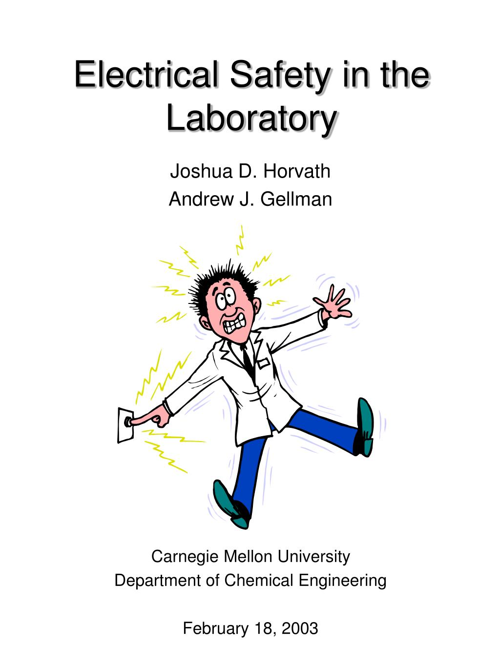electrical safety in the laboratory l.
