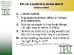 ethical leadership assessment instrument31