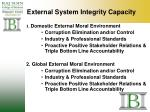 external system integrity capacity