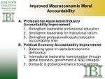 improved macroeconomic moral accountability