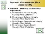 improved microeconomic moral accountability