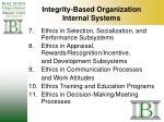integrity based organization internal systems28