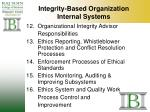 integrity based organization internal systems29
