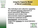 integrity capacity model of moral leadership
