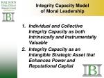 integrity capacity model of moral leadership6