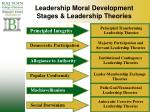 leadership moral development stages leadership theories