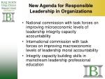new agenda for responsible leadership in organizations
