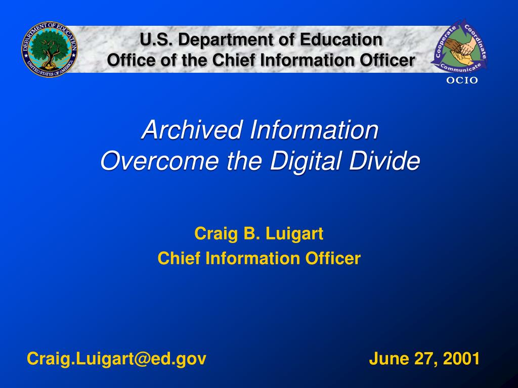 archived information overcome the digital divide l.