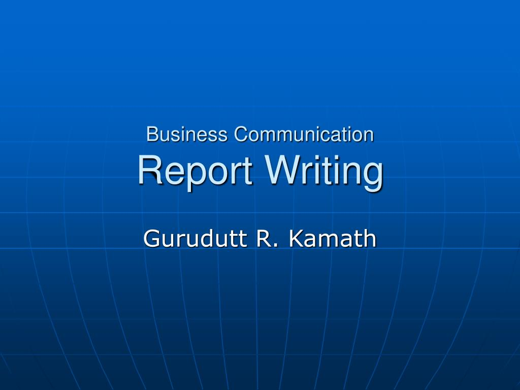 Business writing services report ppt presentation