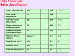 data collection boiler specification